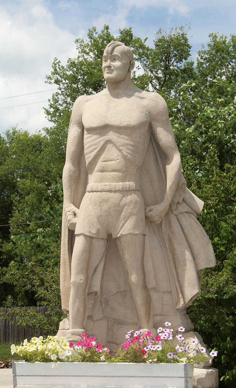 Joe Palooka Statue, Limestone, Oolitic