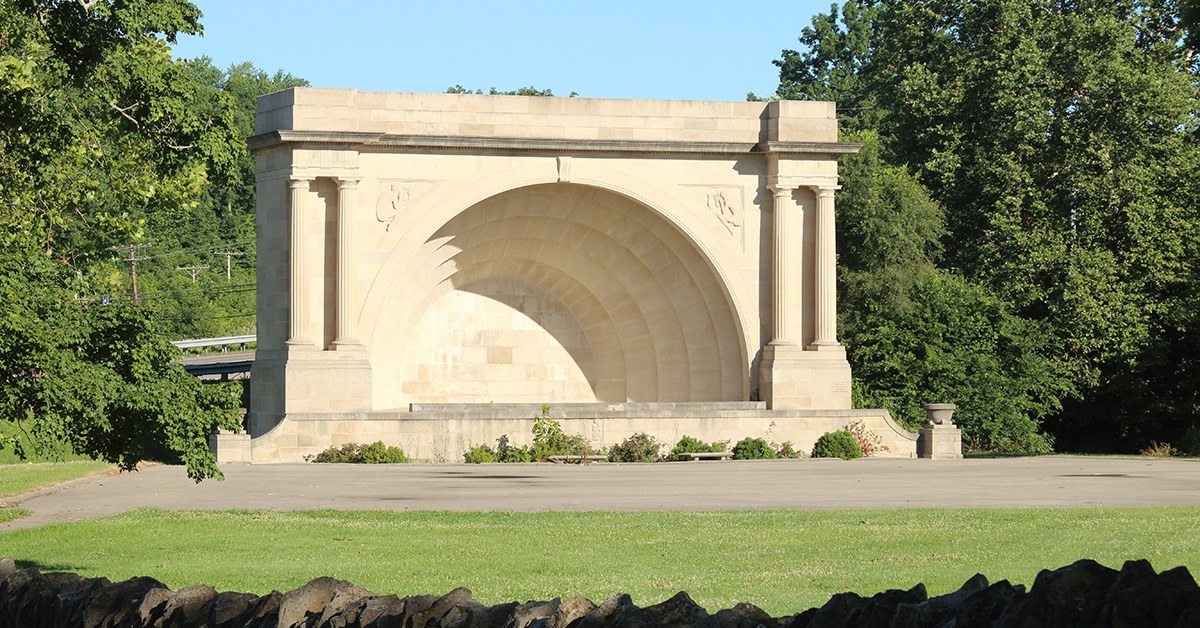 Otis Park Band Shell, Limestone
