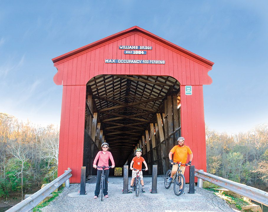 Williams Covered Bridge, Biking, Trail, Recreation