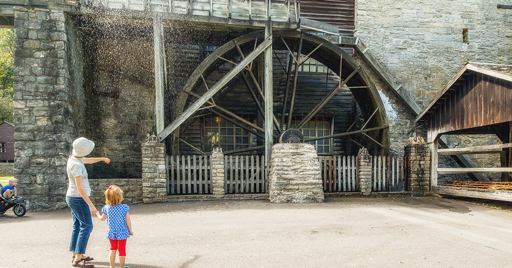 Pioneer Village, Grist Mill, Spring Mill State Park, Mitchell Indiana